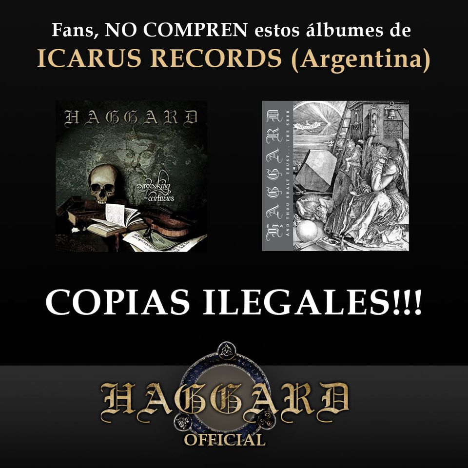 haggard warning for illegal album copies