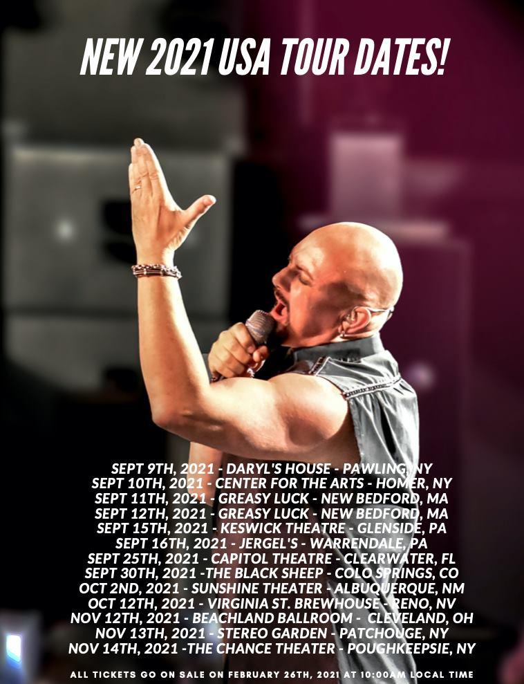 new 2021 usa tour dates