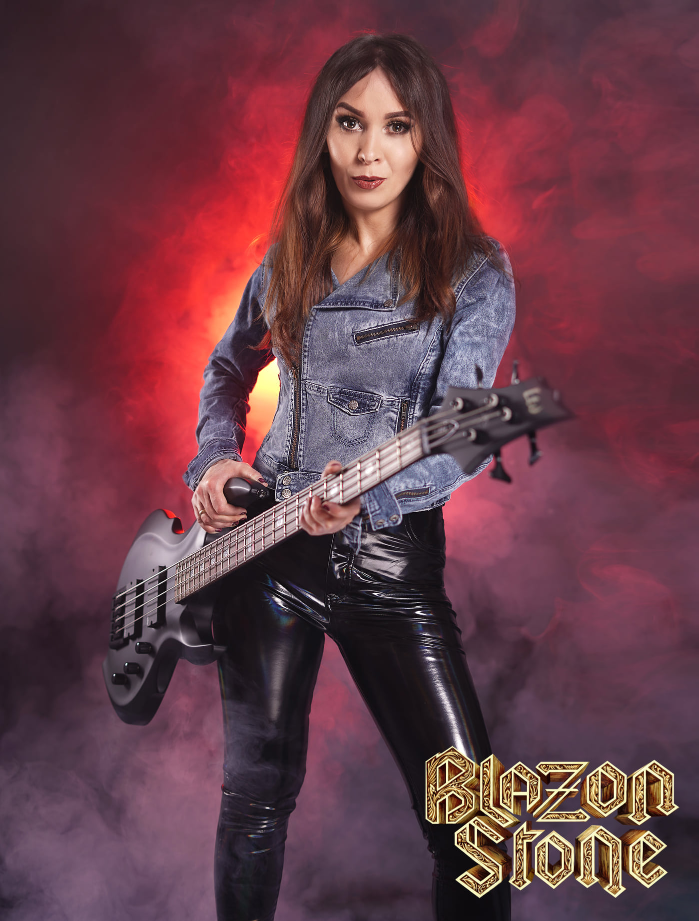 Marta Gabriel as the new bassist at Blazon Stone
