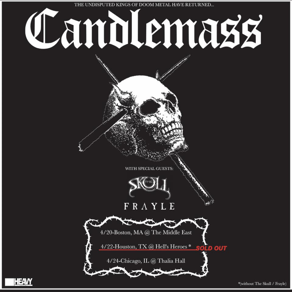 Candlemass - Announce 2022 US Select Shows